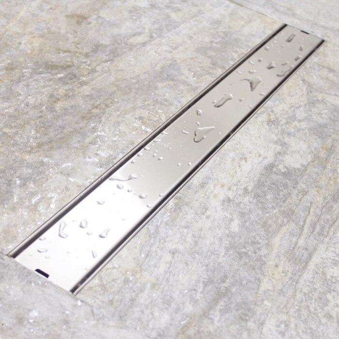 60 cm carrelage de salle de bain en acier inoxydable douche Invisible Drain de sol douche pince à cheveux propre crépine balcon Anti-odeur Drain