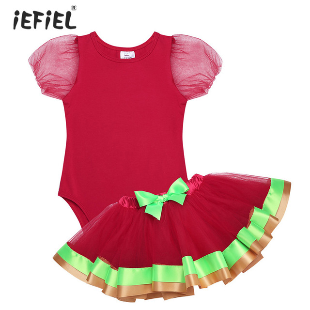 ed89dacd0 Infant Baby Girls  Adorable Short Bubble Sleeves Christmas Outfit ...