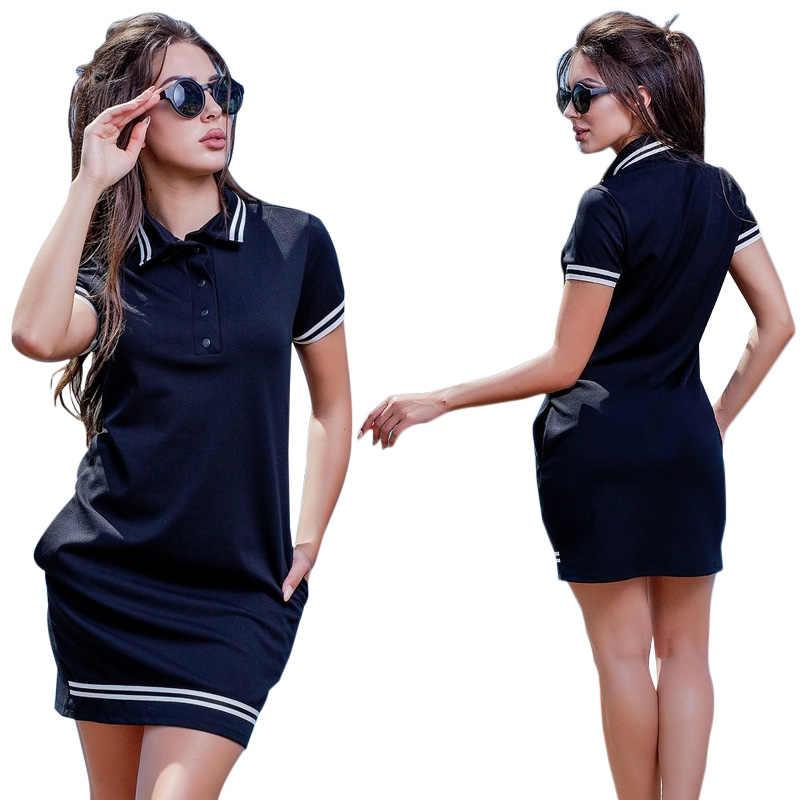 2020 nowych moda koszulka Polo damska sukienka duży rozmiar 6XL ponadgabarytowych kobiet sukienki Work Party kobiet elegancki ponadgabarytowych Vestidos