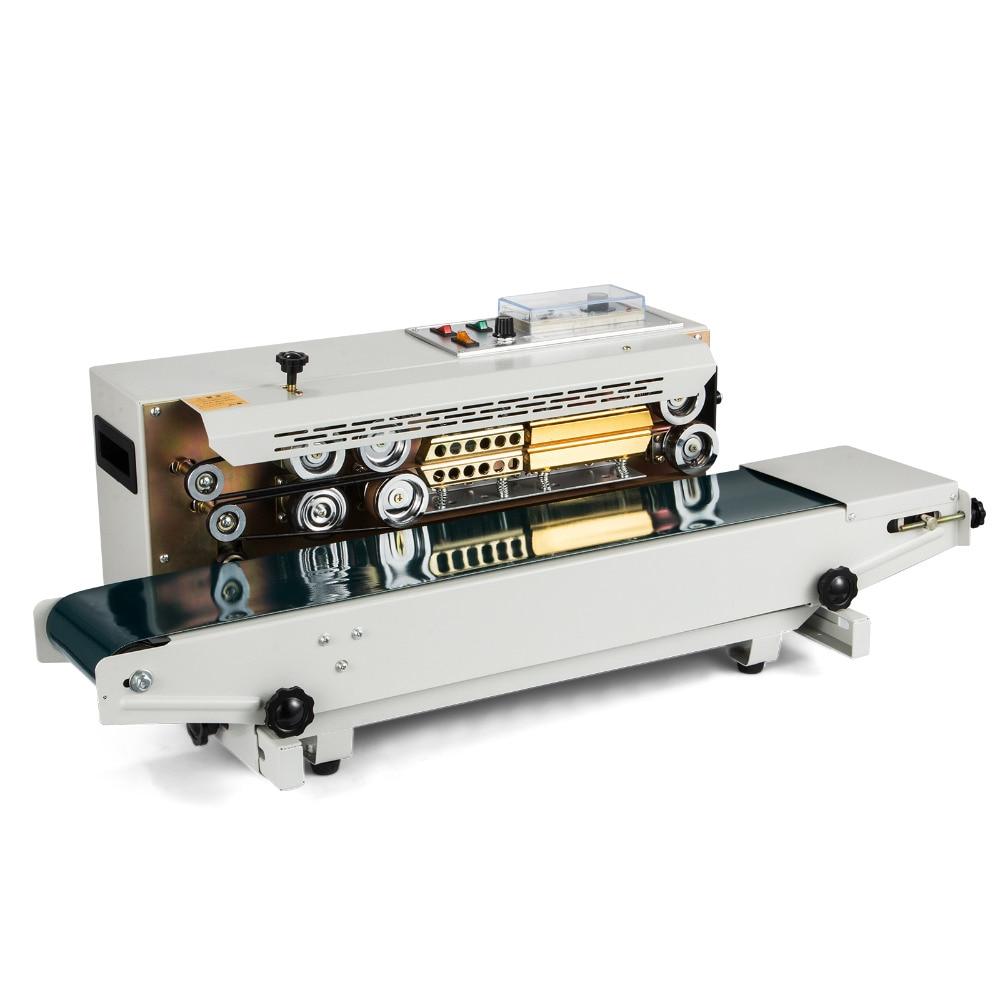 Europe Stock Sealing Machine Automatic Horizontal Continuous Plastic Bag Band Sealing Sealer Machine FR900