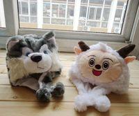 Popular Baby Cotton Hat Animal Cap Cartoon Infant Knitted Cap Free Shipping Panda Mouse Deer Sheep
