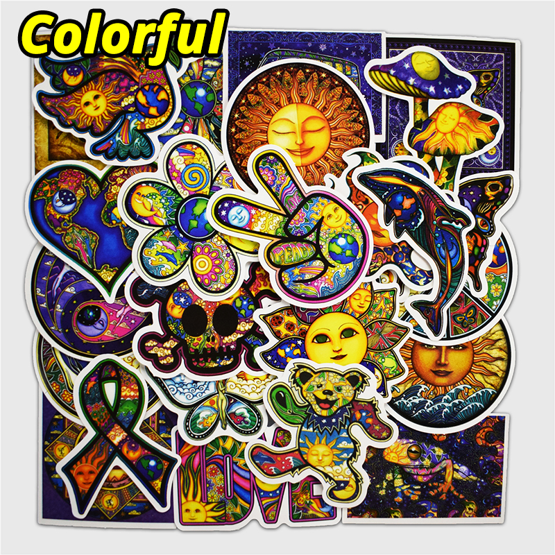 25 Pcs Colorful Peace World Style Stickers for Laptop Phone Luggage Skateboad Car Bike Motorcycle Graffiti Decals Pvc Sticker