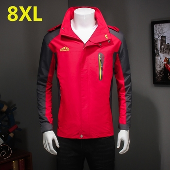 Plus size 10xl 8xl 6xl New Spring jacket men brand clothing fashion hoodie jacket coat male top quality casual outwear for men