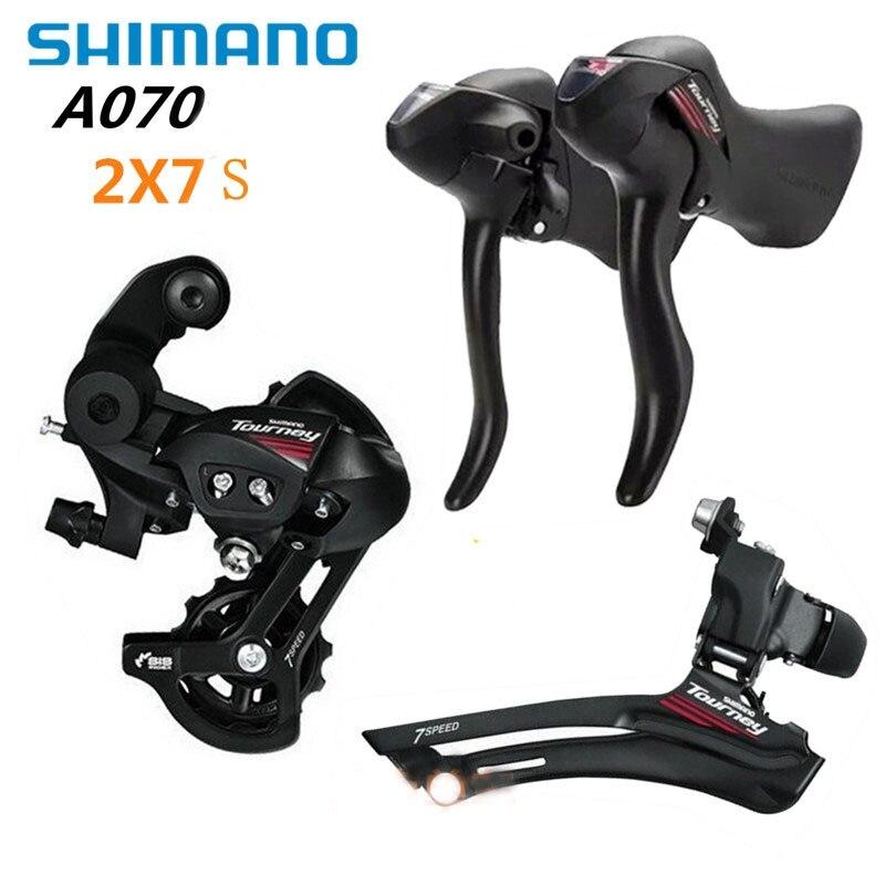 SHIMANO Vélo Shifter A070 2x7 Vitesse Vélo De Route Groupset Kit 3 Pièces ensemble avec Shifter Levier et Avant et Arrière Dérailleur