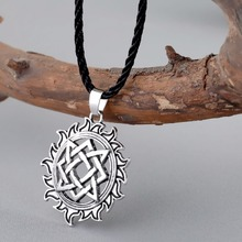 CHENGXUN Viking Solar Amulet pendant Necklace Nordic Charm Slavic Star Lada Sign Pendants Talisman Best Friend Collar Jewelry