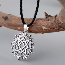 CHENGXUN Viking Solar Amulet pendant Necklace Nordic Charm Slavic Star Lada Sign Pendants Talisman Best Friend Collar Jewelry(China)