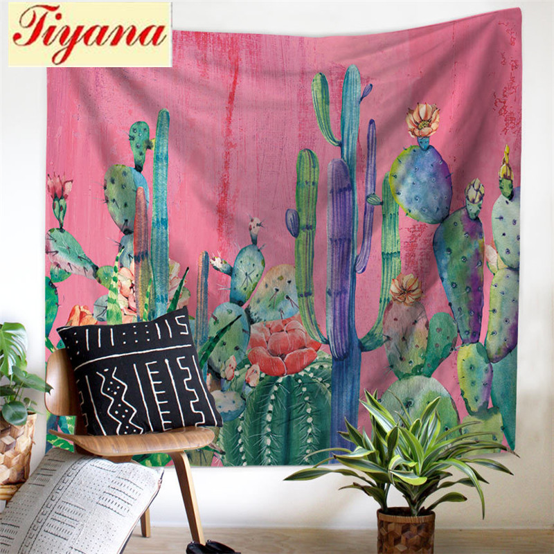 Wall Tapestry for living Room Plant Curtain Beach Towel Bed account Sofa sets Table Cloth Picnic Mats Window Drape Su393 *30