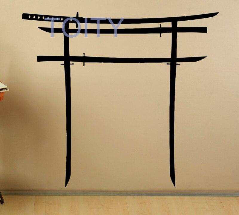 Torii Japanese Swords Gate Wall Decal Art Japanese Culture Vinyl ...