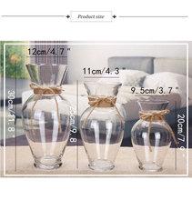 Transparent Multicolor Glass Vase Terrarium Glass Containers Flower Vases Wedding Decoration Table Centerpieces Flowerpot