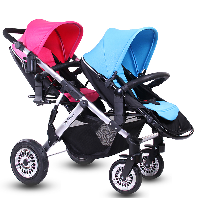 Twins baby stroller before and after the child baby double wheelbarrow