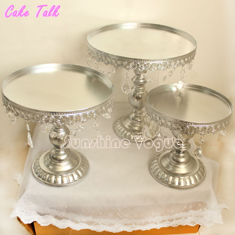 Metal Iron Silver Cake Stand Set 8 10 12 Pendant Charm Accessory Dessert Tray Festive Even Party Supplies Supplier In Stands From Home