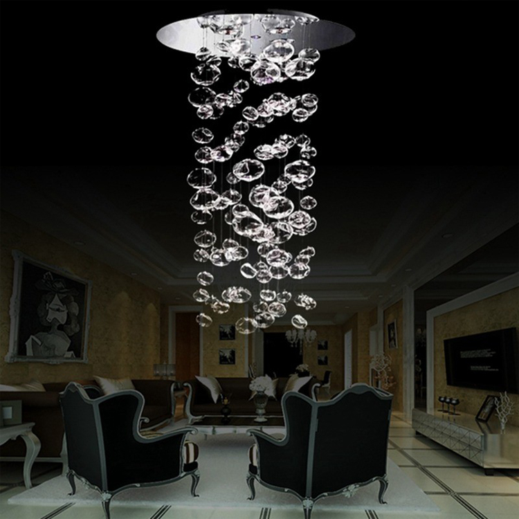 leucos murano due bubble glass chandelier by patrick jouin from leucos led lighting - Bubble Chandelier