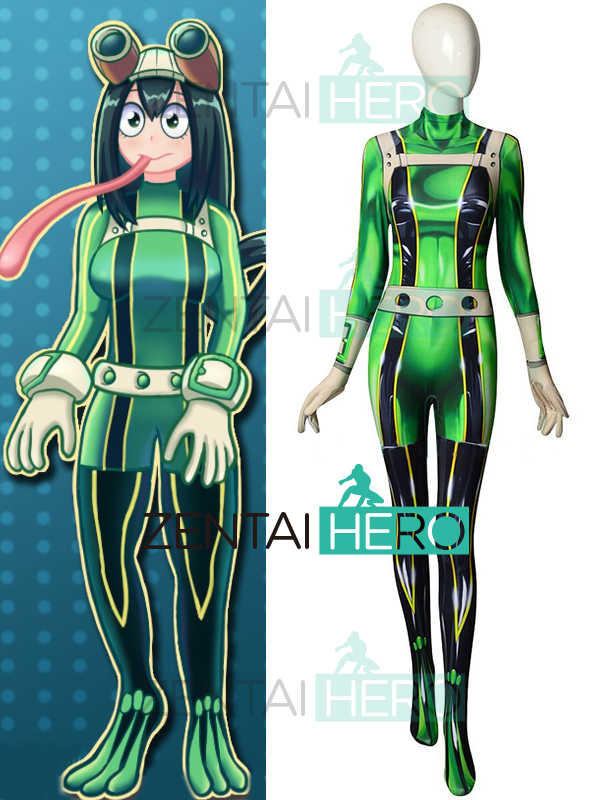 Us 75 99 3d Printed Pro Hero Tsuyu Asui My Hero Academia Female Zentai Bodysuit Boku No Hero Academia Froppy Cosplay Costume Halloween In Game