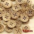 50 шт./лот натуральные кокосовые пуговицы 13 мм Швейные аксессуары для одежды кнопка (ss-1173) - фото