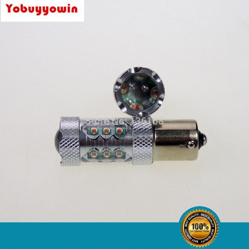 382 1156 1157 P21W P21/5W PY21W BA15S BAY15D BAU15S 80W CREE Chips Led Car Turn Signal Tail Brake Light Bulb red/Amber/white