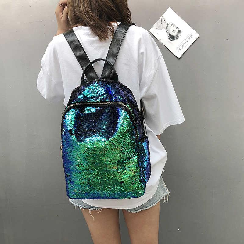 Блестящий женский рюкзак с блестками, большая вместительность, Mochila Feminina, 2019 кожаный рюкзак для девочек, дорожные школьные сумки XA113H