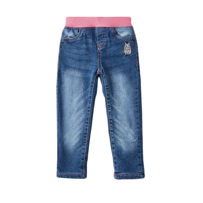 Фото - Jeans MODIS M182D00193 for girls kids clothes children clothes TmallFS girls destroyed jeans