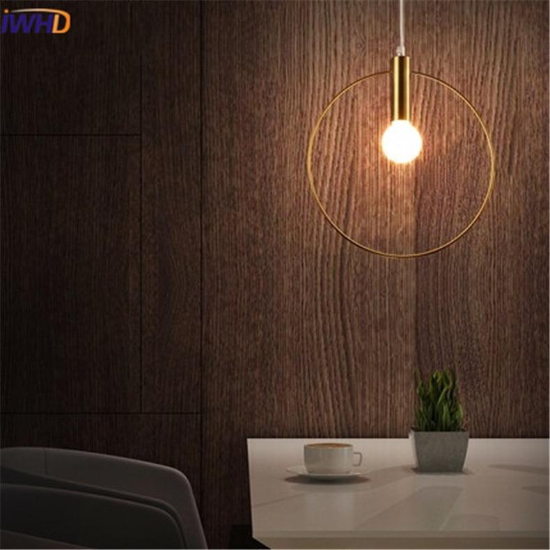 Modren LED obesek lučka Osebnost Zaokrožena železna razsvetljava - Notranja razsvetljava - Fotografija 3