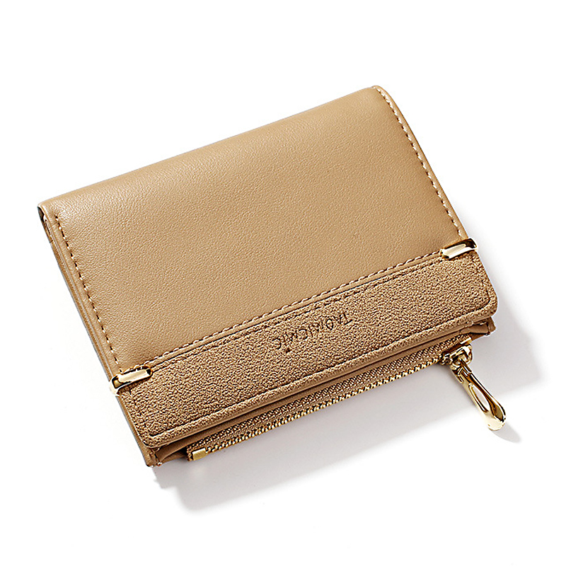Женский кошелек, короткий женский кошелек для монет, модные кошельки для женщин, держатель для карт, маленький женский кошелек, Женский мини-клатч на застежке для девушек - Цвет: Хаки