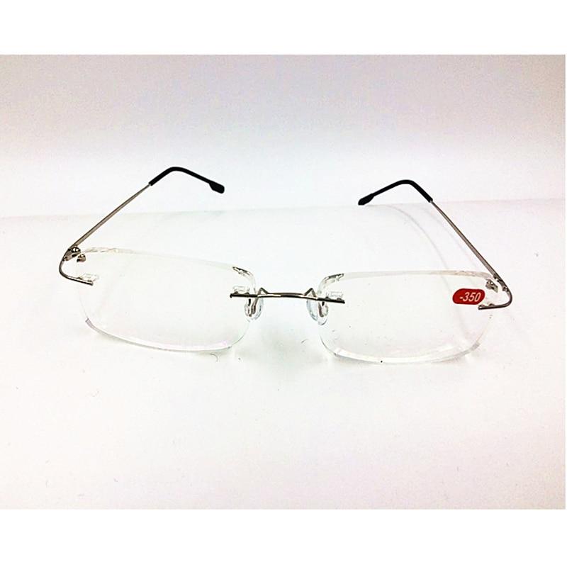 10 Freies 0 Myopie Speicher 6 00 Gläser Ultraleicht Teile Flexible Randlose los Rahmenlose Verschiffen Lesebrille Titan 1 R8wdxanqPg
