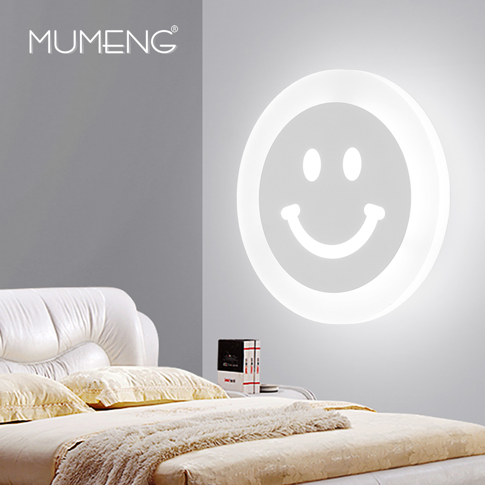 MUMENG Modern LED Wall Lamp 10W 220V Acrylic Living Room Bedroom Bedside Wall Sconce Children Light Fixtures Home Lighting whtie acrylic leaf 15w led wall sconces modern wall lights living room bedroom home decoration lighting light fixtures wall lamp