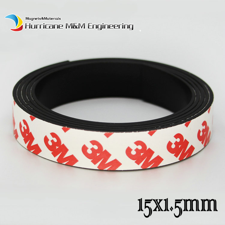 Plastic Soft Magnet Band Length 15 20 25 mm Thickness 1.5 mm 3M Adhesive Glue Notice Board Home Use Magnet wedding decoration fgx 203p spectral optical wedge dimensions 50 8 thickness 3 0 15 mm