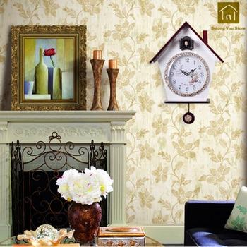 Antike Kuckucksuhr   Nette Holz Wanduhren Kuckucksuhr Kreative Wand Uhr Mechanismus Wohnzimmer Stille Designer Dekorative Relogio Parede 50ZB229