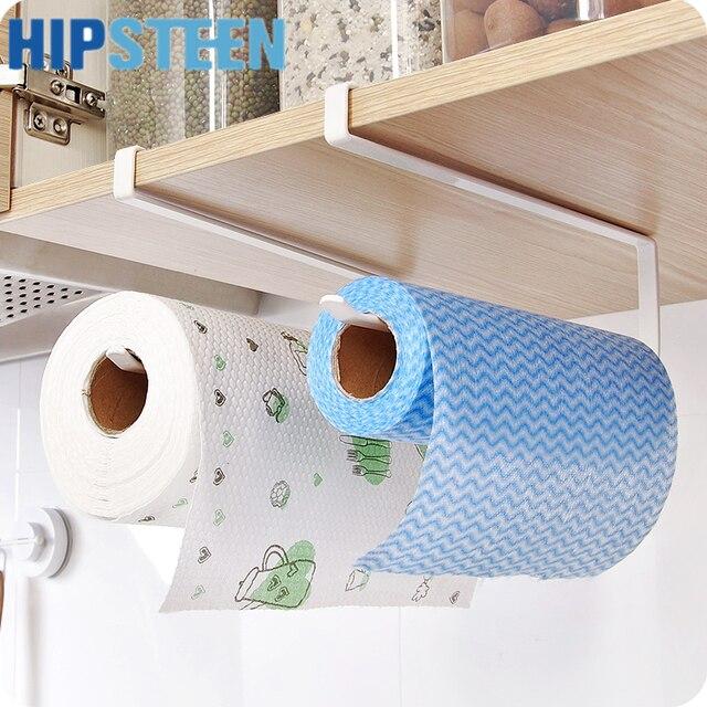Hips Kitchen Toilet Paper Towel Rack Roll Holder Cabinet Hanging Shelf Organizer Bathroom