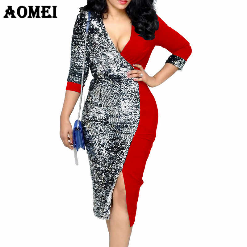 83b603933966a Detail Feedback Questions about Women Dress Sequined Patchwork ...
