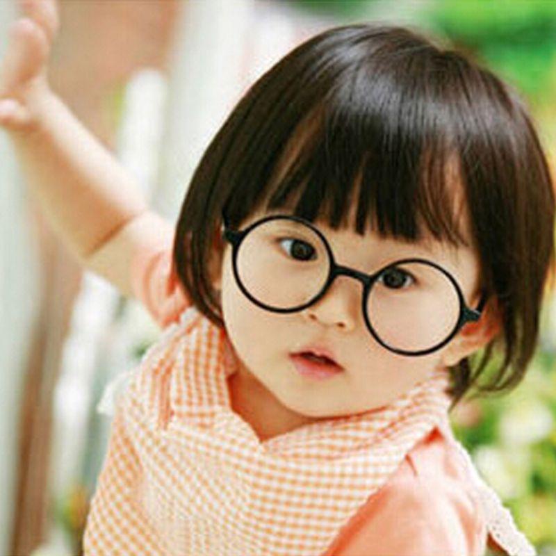 Angemessen Retro-nerd Stil Nette Baby Runde Brille Rahmen Keine Linsen Candy Farbe Kunststoff Mutter Tochter Cosplay Partei Kostüm Brillen Billigverkauf 50%