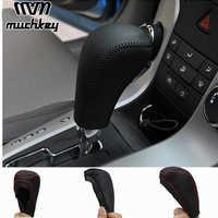 Pour Chevrolet Cruze 2009 2010 2011 2012 2013 2014 bouton de levier de vitesse en cuir véritable couvercle automatique à la Transmission de style de voiture