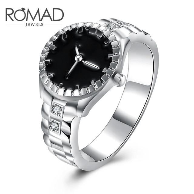 484157a4724c ROMAD 2017 nuevo reloj anillos joyería 925 joyas de plata al por mayor de  Europa y