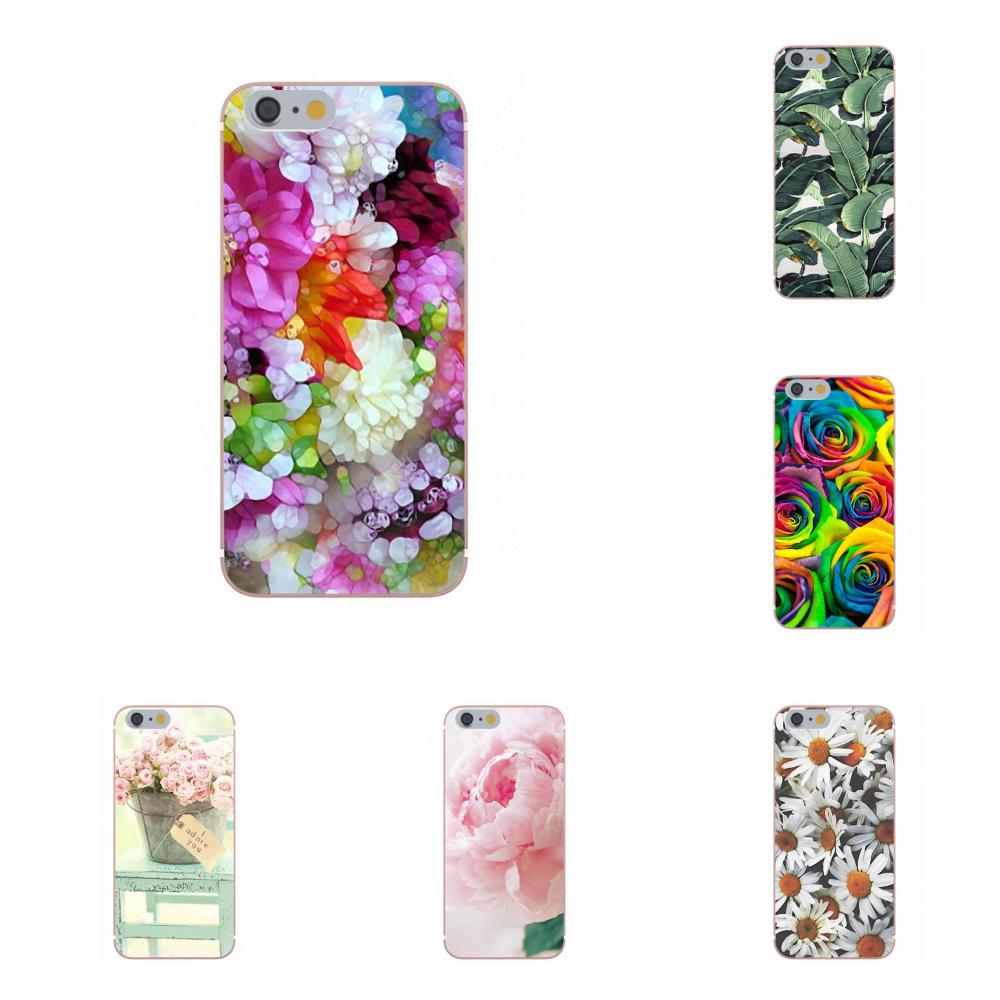 Oedmeb Flower Peonies Roses Soft TPU Case Cover For Xiaomi Redmi 5 4A 3 3S Pro Mi4 Mi4i Mi5 Mi5S Mi Max Mix 2 Note 3 4 Plus