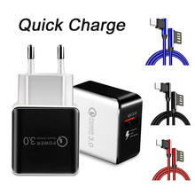 Quick Charge 3.0 USB Charger for iPhone X 8 7 XS Max Fast Wall Charger EU US Adapter for Samsung for Xiaomi Mobile Phone Charger(China)