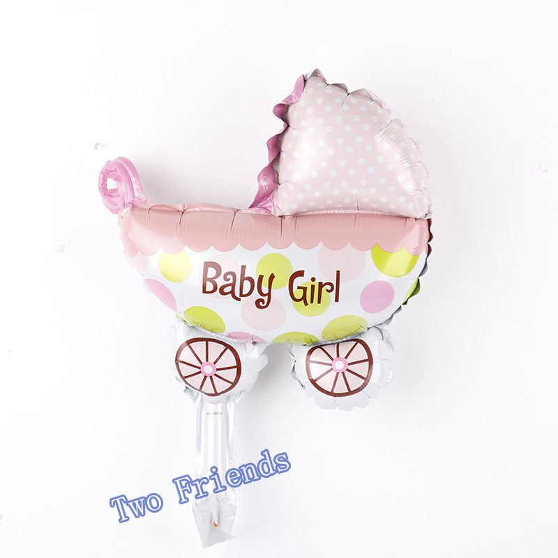 20pcs Mini baby car foil balloons 2 kinds boy&girl car shape balloon for happy birthday party decoration child toys baby shower