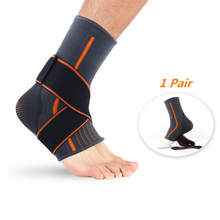 1 Pair Ankle Sleeve with Compression Wrap Ankle Support for Men and Women Breathable Adjustable Ankle Brace for Gym Running