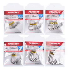 20pc 1/0-13/0 Strong stainless steel Jigging Hook Jig Big Fishing Hook Saltwater Fish Hook