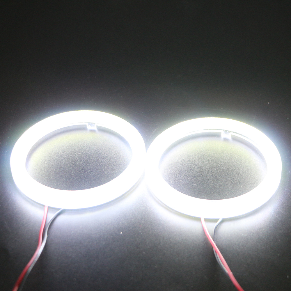80 mm 12V COB Car LED Angel Eyes Halo Rings With Lampshade 63SMD Halo Anneau Colorful LED Headlights White Yellow Red Blue Light