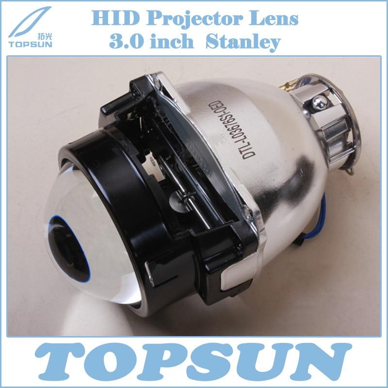 Auto headlight Projector Lens Stanley pattern H7 D2 3.0 inch Car headlight lens