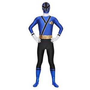 Image 2 - เด็กPower Samurai Sentai Shinkengerเครื่องแต่งกายLycra Samurai Rangersคอสเพลย์ฮาโลวีนสีแดง/สีชมพู/สีฟ้า/สีเขียว/สีเหลืองrangerชุด