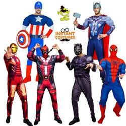 Хэллоуин вечерние Косплэй костюмы супергероя ролевая игра Тор/Американский капитан/Дэдпул/Черная Пантера/гладить костюмы героев