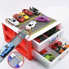 Имитационная автомобильная парковочная коробка для хранения сплава Роскошная мини-модель автомобиля навес для автомобиля игрушечный гараж Коллекционная модель дети ребенок подарок