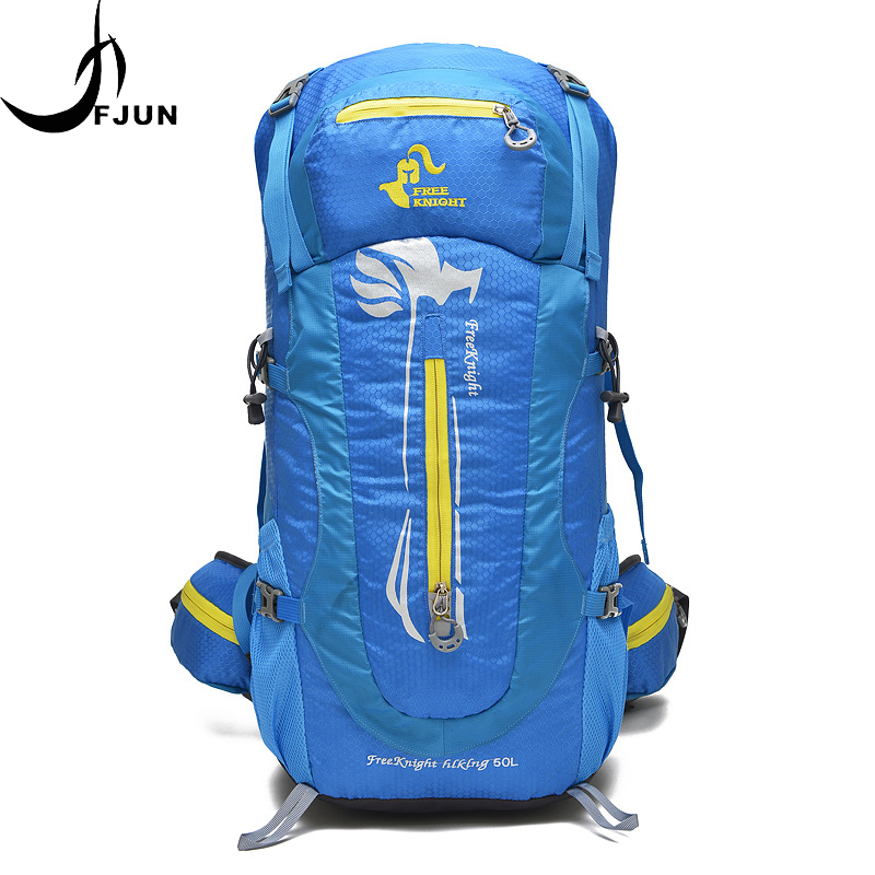 Sac à dos d'alpinisme professionnel sac à bandoulière interne en métal escalade Camping randonnée unisexe imperméable voyage sacs de plein air FK20