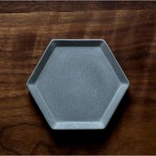 Hexagon Cement plate cup silica gel molds  fruit plates water concrete silicone dish handmade mold