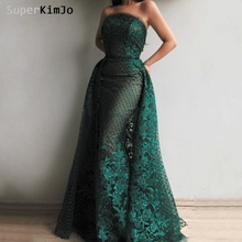 SuperKimJo 2019 Abendkleider Lace Applique Evening Dresses