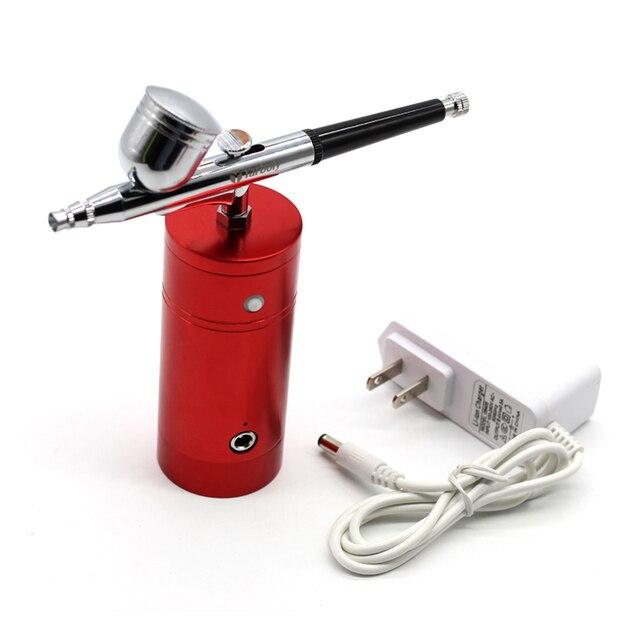 7cc 0,3 мм насадки Аэрограф пистолет самотеком двойного действия украшения торта кисти ручка-распылитель для ногтей маникюр аэрография