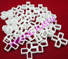 100pcs Bag Plastic Cross Tice Spacer 10 0 With Handle White Color Locate The Ceramic Tile