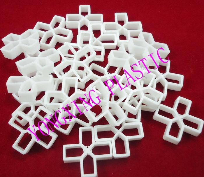 200pcs/bag 10mm Plastic Cross/ Tice Spacer/tracker/locating/ceramic Cross With Handle White Color Locate The Ceramic Tile