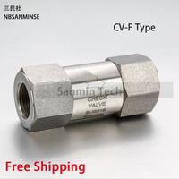 NBSANMINSE CV OD/F Mini In Line Check Valve 6000 Psi Stainless Steel 316L 1/8 1/4 3/8 1/2 3/4 SS Check Valve