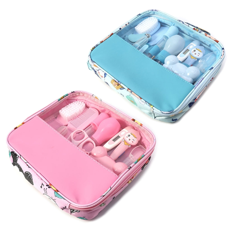13PCS multifunction baby kids Nail Hair health care Kit Baby Grooming Set thermometer clipper scissor kid toiletries for Newborn